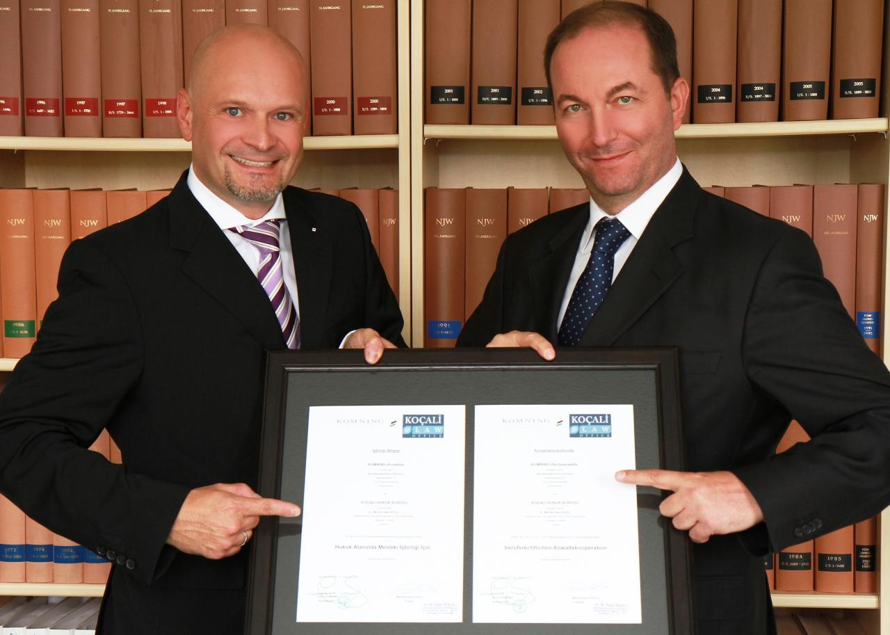 Komning Hukuk Bürosu ile İşbirliği Sözleşmesi